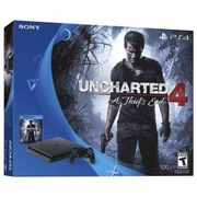 New Sony PlayStation 4 Slim 500GB Console - Uncharted 4 Bundle